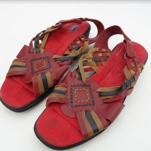 Women's Dr Scholl's Sandals Red Strappy Size9 NWOB